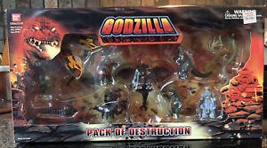 Godzilla Pack of Destruction 2003 Bandai Mini Figures
