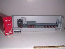 Herpa #827007 D.A.F.10 Wheel Cab w/Low Bed 4-Axle Trailor Black H.O.Gauge