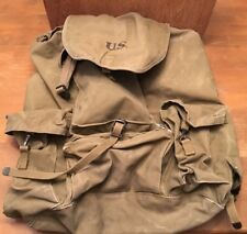Original Vintage Powers &  CO. 1942 US Army duffle Backpack bag Ruck Sack Nice!!