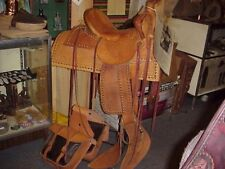 Hand Made Late US Marshal Ralph Hooker Spotted Museum Saddle Bags & Slicker