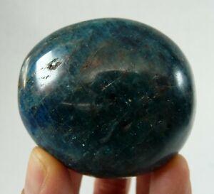 Blue Apatite Crystal Polished Pebble Chakra Stone Madagascar 136 grams