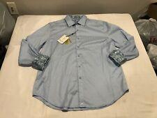NWT $198.00 Robert Graham Diamante LS Buttondown Light Blue Size XL