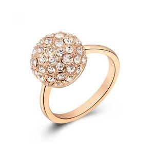 Roxy Damen Diamanten Ball Damen Luxus Weißes Kristall Roségold Rose NEU & OVP