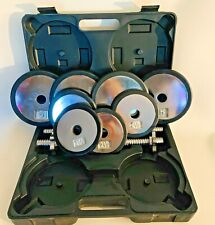 TSA 30Lb Adjustable Weight PlateChrome Dumbbell Handle Collar Set w/ Case
