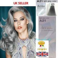 Berina  Permanent Color Hair Dye Cream & Developer A21 #Light Grey#  UK SELLER