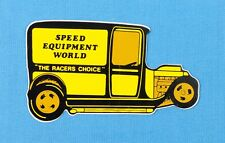 Drag Racing NHRA Speed Equipment World Decal