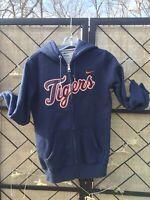 Nike Detroit Tigers Baseball Hoodie Sweatshirt Small 30-32 Blue Orange Men's
