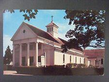 Hyannis Cape Cod Massachusetts St Francis Xavier Church Chrome Postcard 1950s