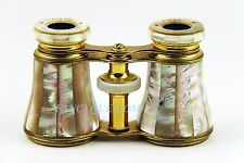 ANTIQUE FRENCH OPERA GLASSES WITH AMAZING RAINBOW MOTHER OF PEARL # 123