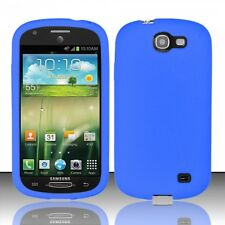 Samsung Galaxy Express Rubber SILICONE Soft Gel Skin Case Phone Cover Dark Blue