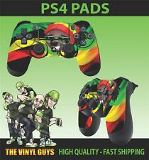 PS4 PLAYSTATION 4 CONTROLLER PAD RASTA MAN DREADS GRAPHIC STICKER SKINS X 2