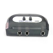 FireWire IEEE 1394 2:1 Selector manual Switch box Switcher 6pin Female ilink dv
