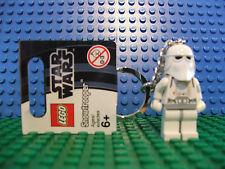 Lego Mini Fig Figure SnowTrooper Key Ring Chain Rare Star Wars Starwars