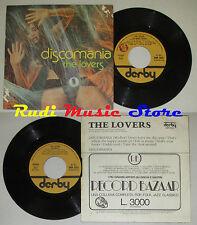"LP 45 7"" the LOVERS DISCOMANIA... 1977 Italy Derby DBR 5212 CD MC DVD (*)"