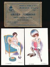 Glamour artist F Fabiano drawn Sieges Feminins x5 cards in original envelope S27