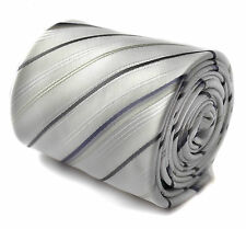Frederick THOMAS IVORY e Sottile Nero A Righe Da Uomo matrimonio cravatta RRP £ 19,99 ft1439