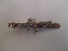 T508 Vintage Style Machine Gun Tie Bar Clip Tacks  Vintage Military Gothic Gift