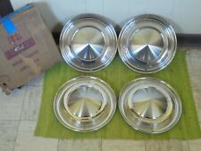 "NOS 62 63 Mercury Hubcaps 14"" Set of 4 Merc Wheel Covers 1962 1963 Hub Caps"