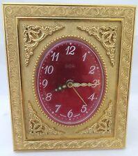 vintage alarm clock Tischuhr Uwestra Stiluhr Schreibtischuhr Mechanisch Uhr 70er