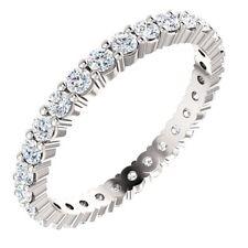 One Eternity Ring Charles & Colvard 14K Gold 1.00 Carat Def Moissanite Forever