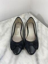 Clarks Originals Black Leather Ballet Flats Uk Size 6