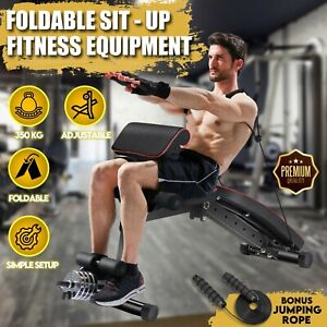 Home Gym Fitness Dumbbell Situp Sit up Bench Exercise Leg Curl Extension