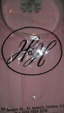"Harvie & Hudson 18.5/33.5"" Cotton Pink NECKBAND Shirt Double Cuff Reg Fit RP £75"
