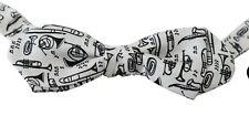 DOLCE & GABBANA Bow Tie Men White Instruments Silk Adjustable Neck Papillon