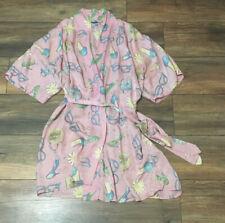 Pink Silky Feel Short Robe with Matching Belt High Heels, Handbags & Glasses