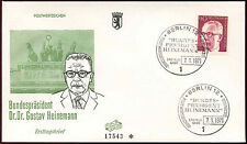 Berlin 1971, 90pf Dr. G. Heinemann Definitive FDC First Day Cover #C34379