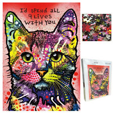 Wooden Jigsaw Puzzle for Adults,The Colourful Cat of 1000PCS Puzzles