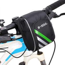 Bike Handlebar Bag Bicycle Pannier Frame Tube Outdoor Cycling Front Basket