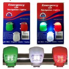 New LED Navigation lights Emergency set of 3 Nav lights for Boats, Kayaks, Bikes