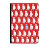 """Red Cats Pattern Kitten Vintage Universal Tablet 9-10.1"""" Leather Flip Case Cover"""