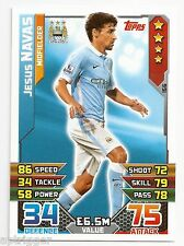 2015 / 2016 EPL Match Attax Base Card (156) Jesus NAVAS Manchester City