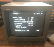 Sony PVM-14N5U Trinitron CRT Monitor Retro Gaming 14M4U 14L5 BVM Tested Working