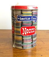 "American Classic Necco Wafer Tin Canister Sealed Old Stock Full 6 1/4"" Su7"