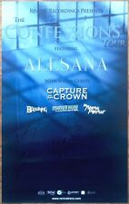ALESANA Confessions Ltd Ed Hand Signed By All 6 Members RARE Poster +FREE Poster