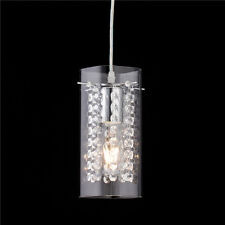 Modern Crystal & Glass Pendant Light Lamp Hanging Ceiling Lighting Fixture