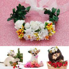 Flower Headband Girl Floral Crown Wreath Hair Accessories Dog Wedding Headwear