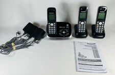 Panasonic Cordless Phones DECT 6.0 KX-TG6533B Base With 3 Handsets & Chargers