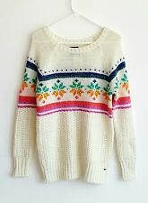 American Eagle Outfitter Jegging Sweater Cream Rainbow Wool Mohair Blend- Medium