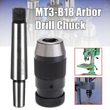 "1-16MM Lathe Drill Chuck Keyless 1/32""- 5/8"" Self Tighten Steel + MT3-B18 Arbor"