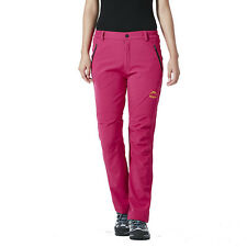 Women's Soft Shell Waterproof Outdoor Pants Fleece Lined Hiking Skiing Trousers