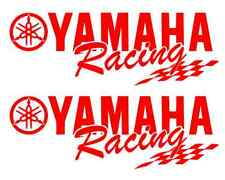 (2) Yamaha Racing Decal RED Sticker Motocross Jetski Waverunner yz r6 r1 mx yzf