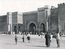MEKNÈS c. 1960 - La Porte Bab Mansour  Maroc  - Div 7244