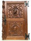 Stunning Neo Renaissance Door panel Carved all over with faces 2