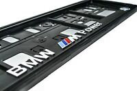 2x 3D BMW LICENCE NUMBER PLATE HOLDER M Power M3, M5, M6, M Performance, X6M, X5