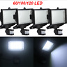 60/100/120 SMD LED Solar Powered Motion Sensor Security Light Flood Lamp Garden