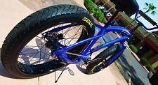 Fat Tire Beach Cruiser SOUL STOMPER - BLUE CHROME - 3 SPEED
